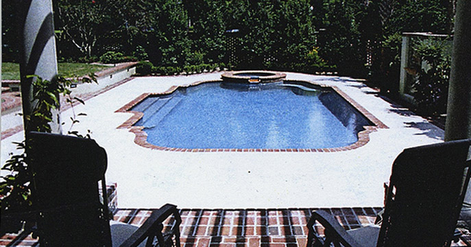 Custom Sunken Pool with Brick Edging